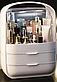 Органайзер для косметики на 3 секції W-40 настільний Білий | Кейс для косметики Б'юті Бокс, фото 2