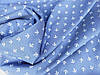Тканина Джинс стрейч, №358 якорьки  (стрейч! сорочка, сукня)