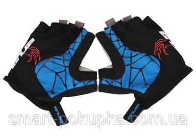 Перчатки велосипедные GUB S036 черно-синий XL