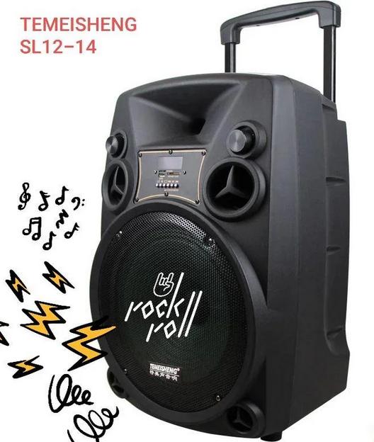 Колонка Temeisheng SL12-14 150Вт беспроводная с видеомикрофоном-суфлером | Караоке спикер bluetooth