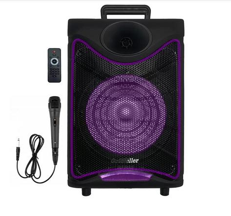 "Акустична система Goldteller GT-6020 акумулятор Bluetooth з мікрофоном 8"" 30Вт   Бездротова колонка"
