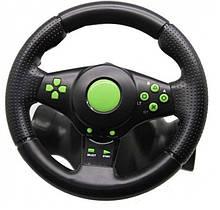 Кермо ігрової 3 В 1 Vibration Steering Wheel PS2/PS3/PC-USB, дитячий кермо чорний