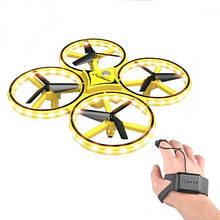 Ручний квадрокоптер 918 , Жовтий, дрон висота польоту до 80 м