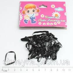 Резинка для волос силиконовая тонкая черная