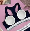 Комплект нижньої жіночої білизни Calvin Klein Modern Cotton топ і сліпи | Біла жіноча білизна, фото 6