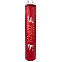 Мішок боксерський Циліндр з кільцем і ланцюгом ZHENGTU BO-2336R-120 висота Червоний, фото 1