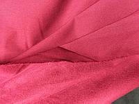 Тканина бенгалін, сильний стрейч! на флісе темна вишня, фото 1