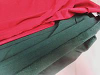 Ткань бенгалин, сильный стрейч! На ФЛИСЕ. Цвет темный зеленый