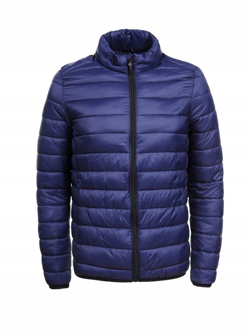 Мужская демисезонная стеганая куртка без капюшона в больших размерах