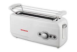 Тостер на 1 отделение + подставка для булочек Vitalex VL-5016 подогрев и разморозка мощность 750