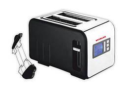 Тостер Vitalex VL-5017 на 2 отделения поддон для крошек мощность 730 вт с лед дисплеем