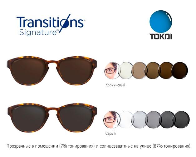 Фотохромная лінза TOKAI 1.5 Transition VII HMC
