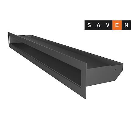 Вентиляційна решітка для каміна SAVEN Loft 60х400 графітова, фото 2
