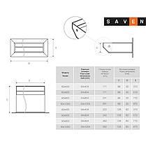Вентиляційна решітка для каміна SAVEN Loft 60х400 графітова, фото 3