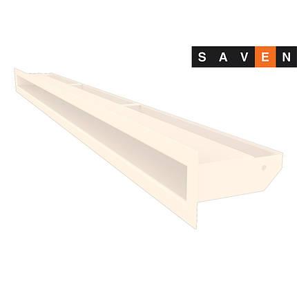 Вентиляційна решітка для каміна SAVEN Loft 60х1000 кремова, фото 2