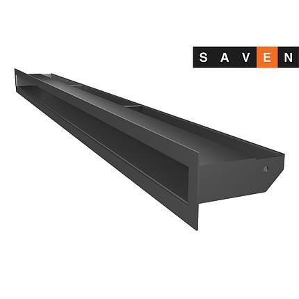 Вентиляционная решетка для камина SAVEN Loft 60х1000 графитовая, фото 2