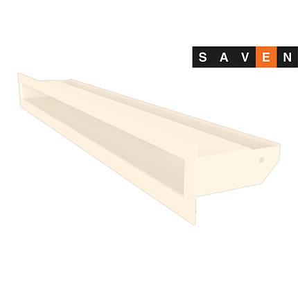 Вентиляційна решітка для каміна SAVEN Loft 60х600 кремова, фото 2