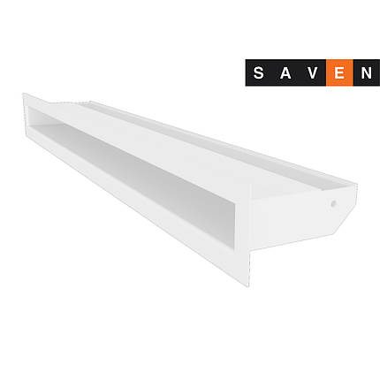 Вентиляционная решетка для камина SAVEN Loft 60х600 белая, фото 2