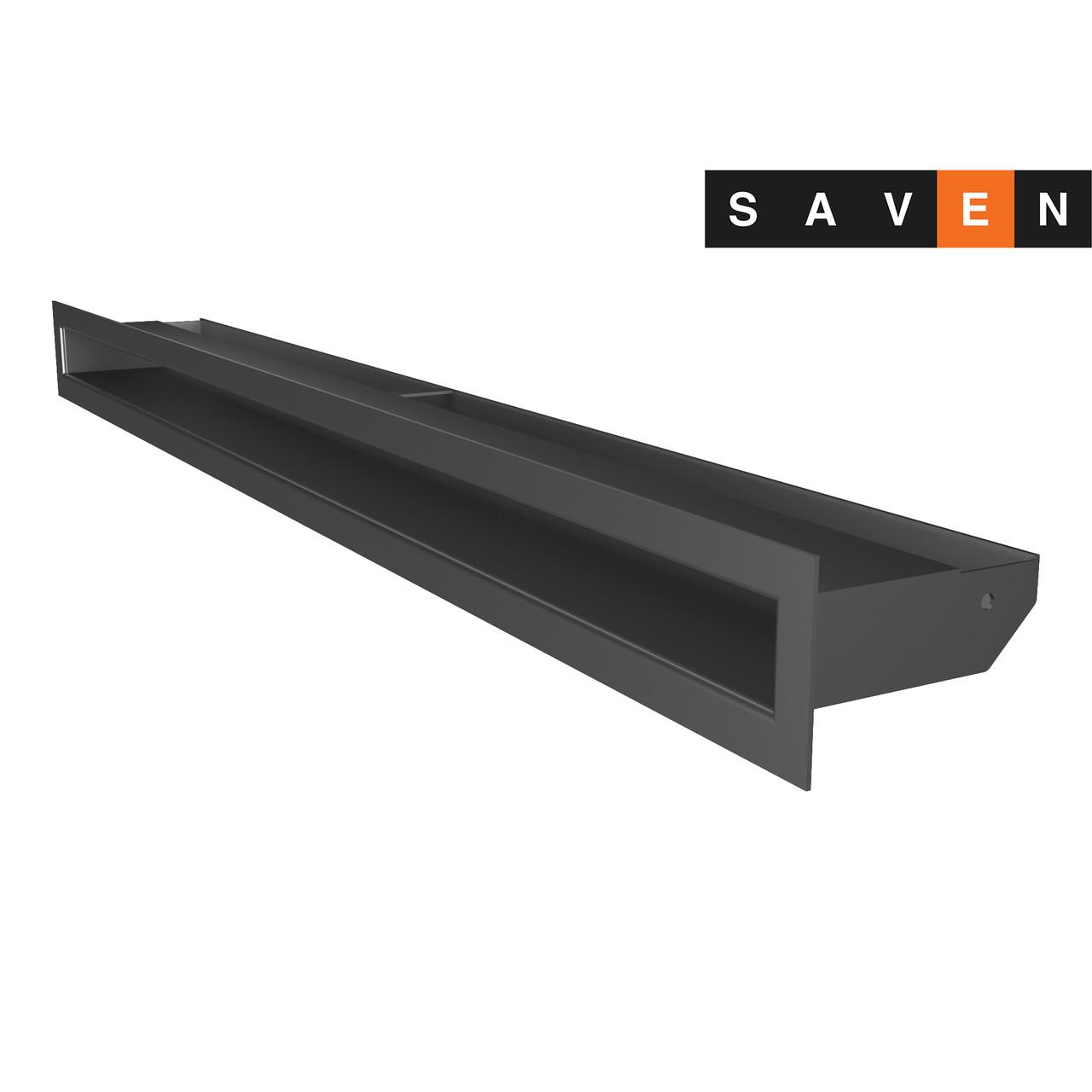 Вентиляційна решітка для каміна SAVEN Loft 60х800 графітова