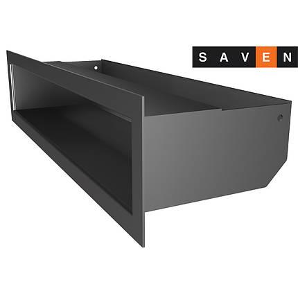 Вентиляционная решетка для камина SAVEN Loft 90х400 графитовая, фото 2