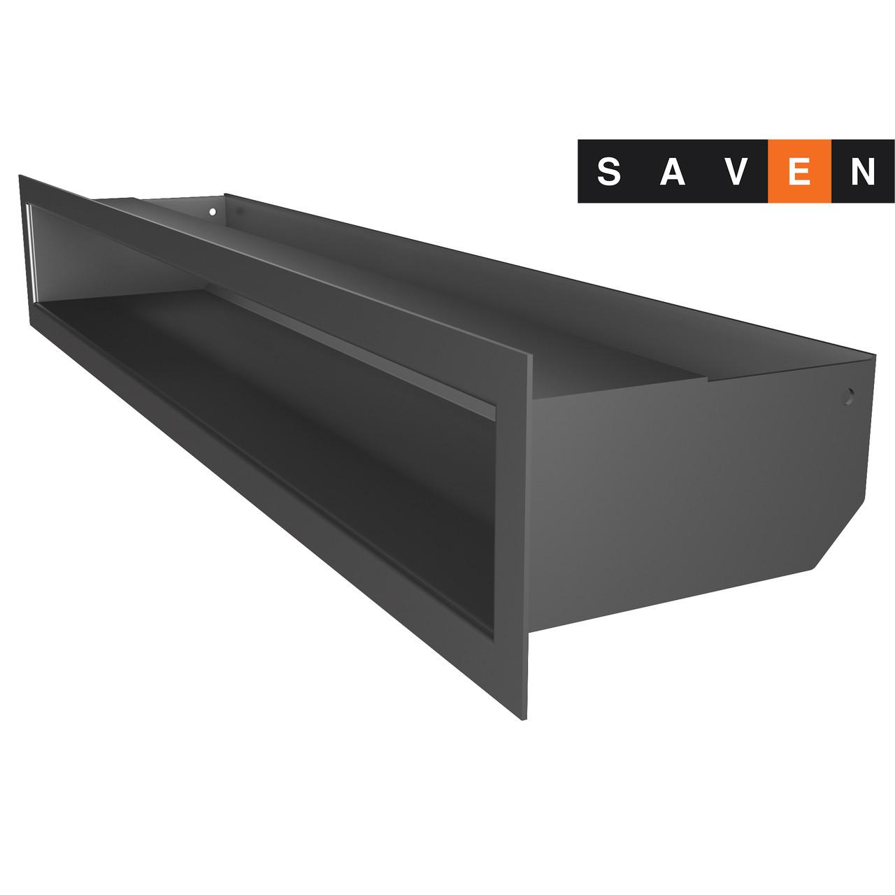 Вентиляционная решетка для камина SAVEN Loft 90х600 графитовая