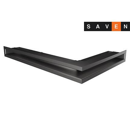 Вентиляционная решетка для камина угловая левая SAVEN Loft Angle 60х400х600 графитовая, фото 2
