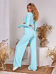 Жіночий костюм, рубчик, р-р 42-44; 46-48 (блакитний), фото 2