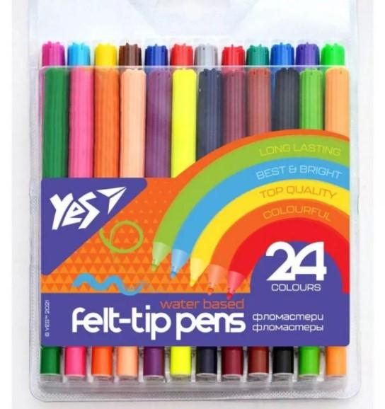 Фломастери YES 24 кольору Erudite
