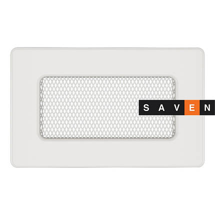 Вентиляционная решетка для камина SAVEN 11х17 белая, фото 2