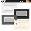 Вентиляционная решетка для камина SAVEN 11х17 белая, фото 4