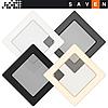 Вентиляційна решітка для каміна SAVEN 17х17 кремова, фото 3