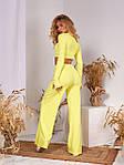 Женский костюм, рубчик, р-р 42-44; 46-48 (желтый), фото 3