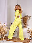 Женский костюм, рубчик, р-р 42-44; 46-48 (желтый), фото 4