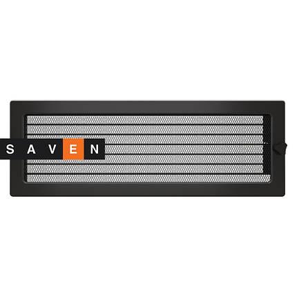 Вентиляційна решітка для каміна SAVEN 17х49 графітова з жалюзі, фото 2