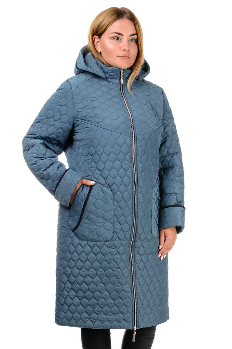 Пальто зимове «Юта», р-ри 50-60, №217 сіро-блакитний