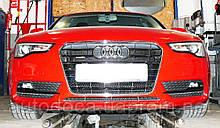Декоративно-защитная сетка радиатора Audi A5 фальшрадиаторная решетка, бампер