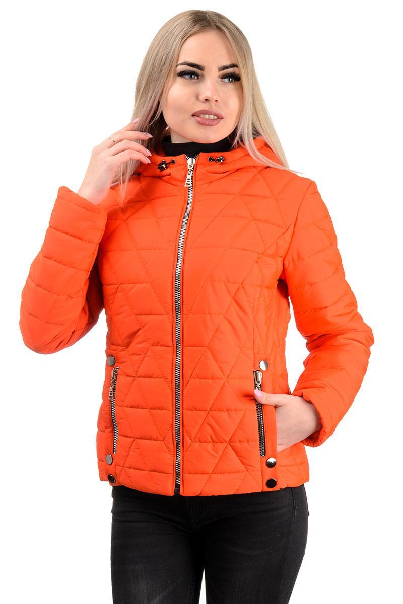 Демисезонная куртка «Клер»,р-ры 42-48, №233 оранжевый