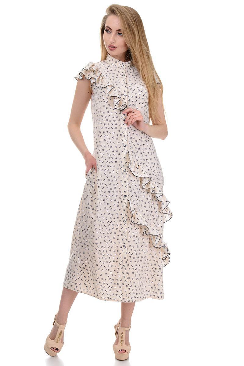 Сукня «Римма», р-ри S-L, арт.359 сердечка беж