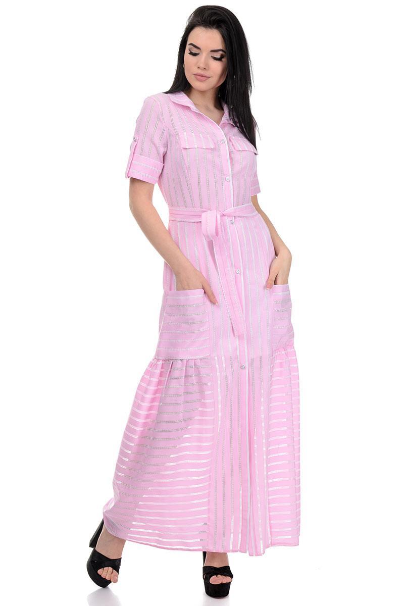 Платье «Луна», р-ры S-ХL, арт.362 розовый