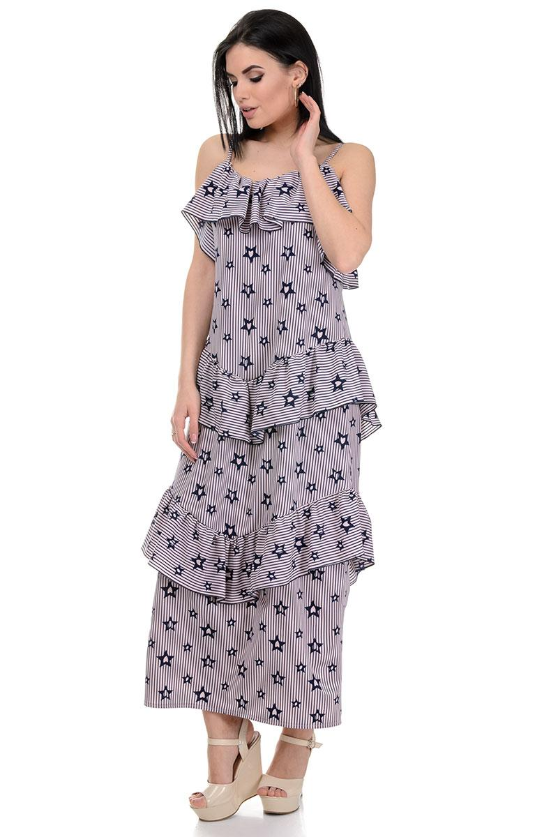 Сукня «Аліса», р-ри S-L, арт.364 зірки пудра