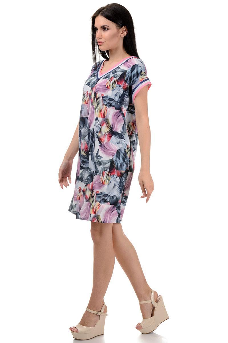 Платье «Дрю», р-ры XS-L, арт.378 розовый