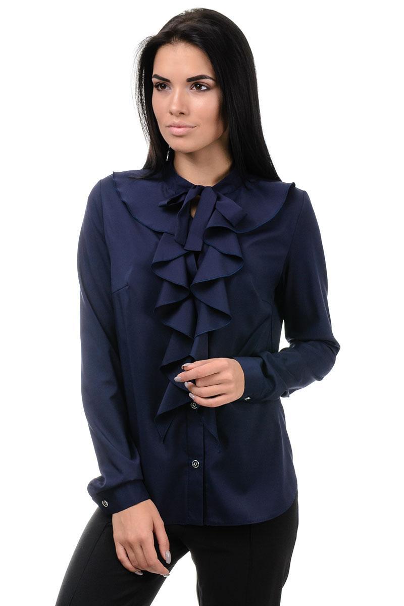 Блуза «Мішель», р-ри S-ХL, арт.393 синій