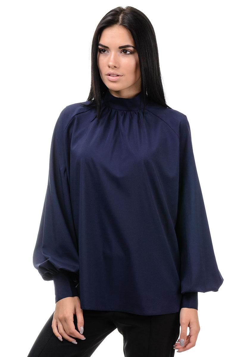 Блуза «Регіна», р-ри S-L, арт.395 синій