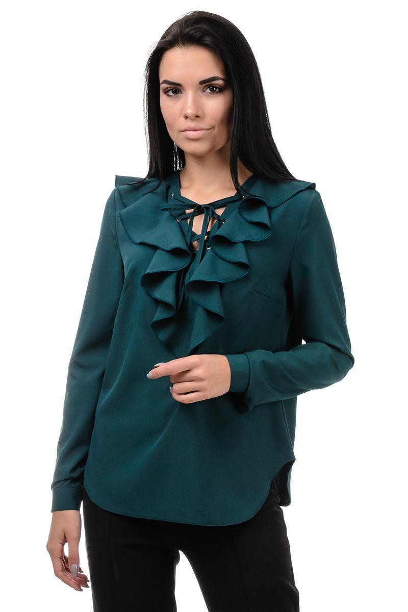 Блуза «Холлі», р-ри S-ХL, арт.394 зелений