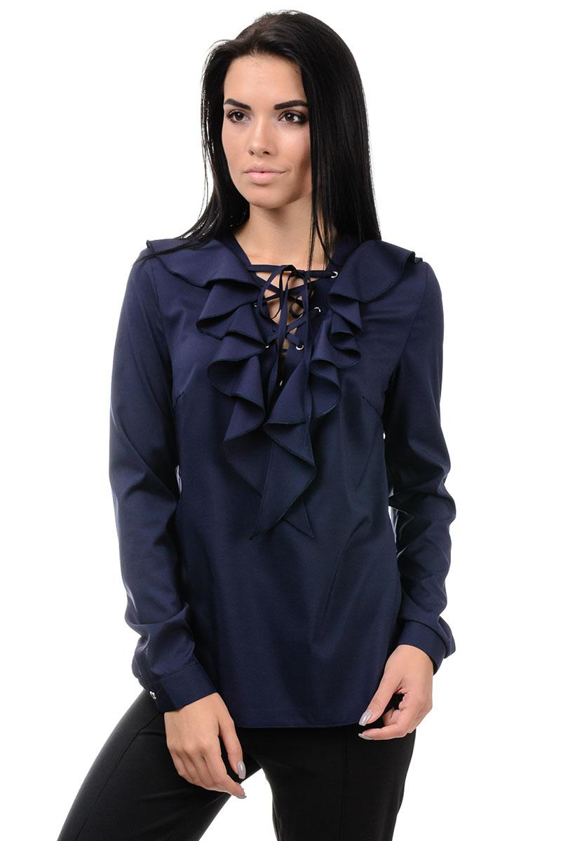Блуза «Холлі», р-ри S-ХL, арт.394 синій