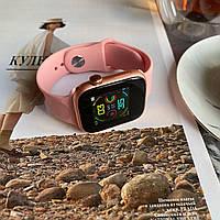 Смарт часы Smart Watch W4.Умные часы, В стиле Apple watch розовые. для Android и iOS. Для мужчин и женщин