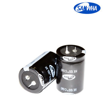 470mkf - 400v  HK 30*50  SAMWHA, 105°C конденсатор електролітичний