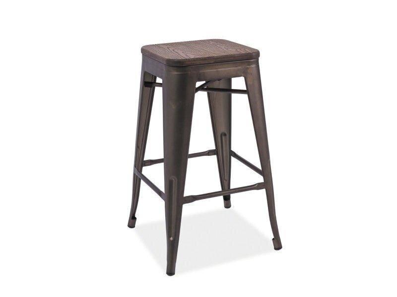 Барный стул LONG Signal Орех / Графит