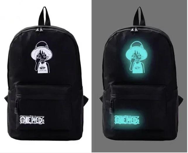 Школьный рюкзак с иллюминацией светится в темноте принт.
