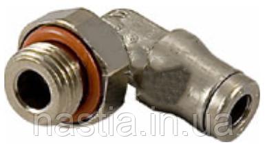 MG132 З'єднувальний елемент(угловий, під тефлонову трубку d=4mm), 1/8-цанговий зажим